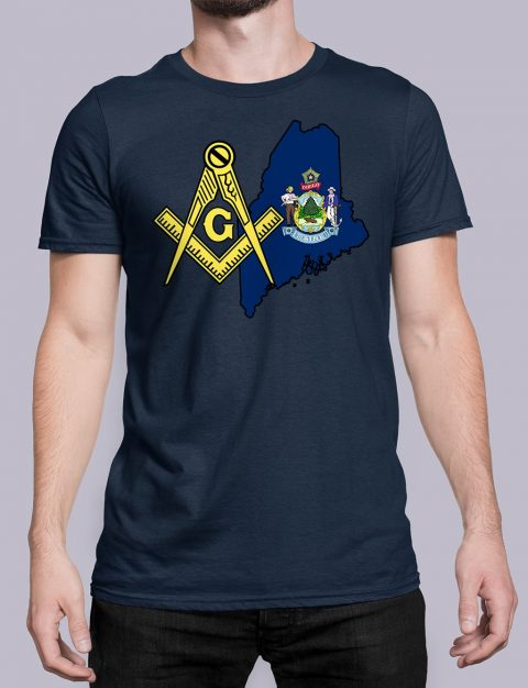 Maine Masonic Tee Maine navy shirt