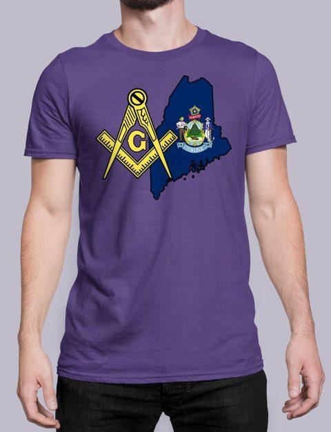 Maine Masonic Tee Maine purple shirt