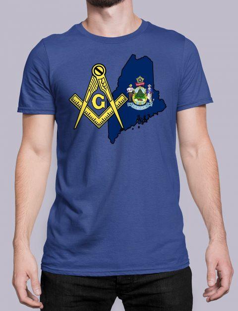 Maine Masonic Tee Maine royal shirt