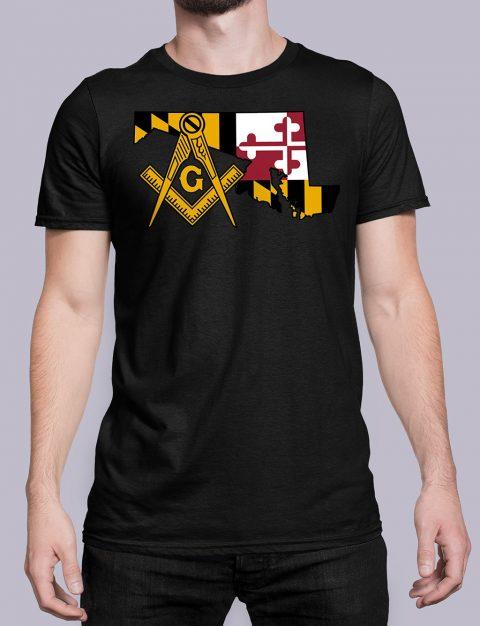 Maryland Masonic Tee Maryland black shirt