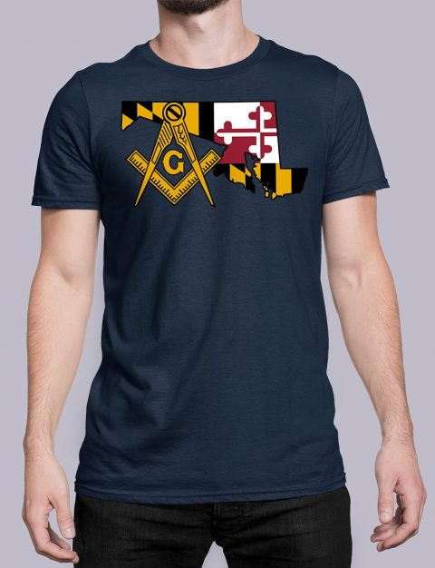 Maryland Masonic Tee Maryland navy shirt
