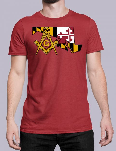 Maryland Masonic Tee Maryland red shirt