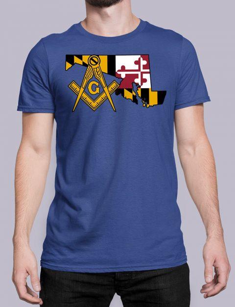 Maryland Masonic Tee Maryland royal shirt