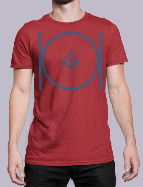 Masonic T-shirt Masonicred shirt 24