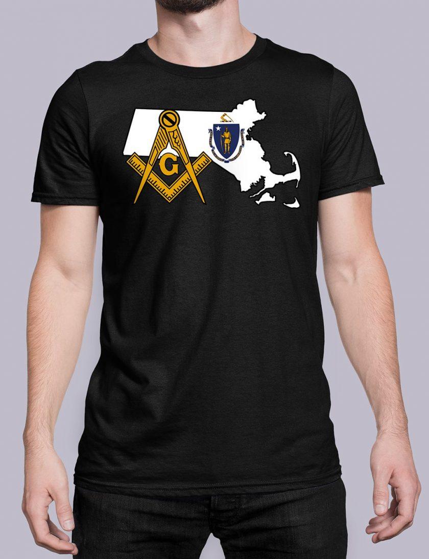 Massachusetts Masonic Tee Massachusetts black shirt