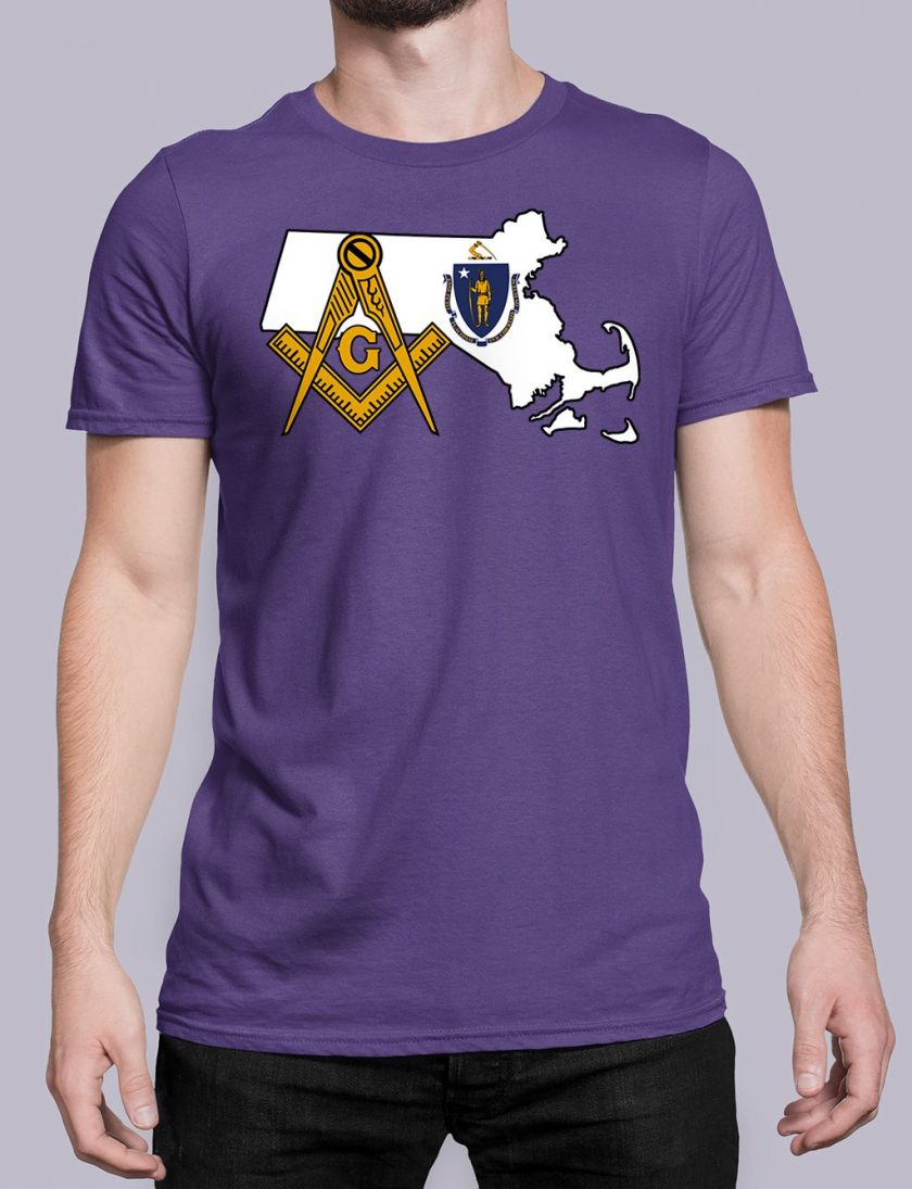 Massachusetts Masonic Tee Massachusetts purple shirt