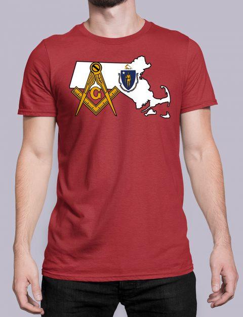 Massachusetts Masonic Tee Massachusetts red shirt