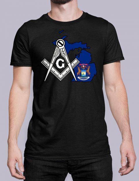 Michigan Masonic Tee Michigan black shirt