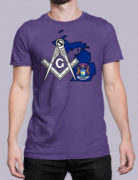 Michigan Masonic Tee Michigan purple shirt
