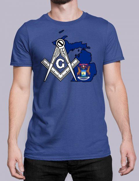 Michigan Masonic Tee Michigan royal shirt