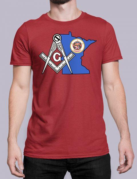 Minnesota Masonic Tee Minnesota red shirt