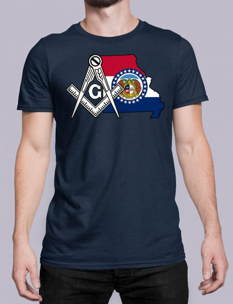Missouri Masonic Tee Missouri navy shirt
