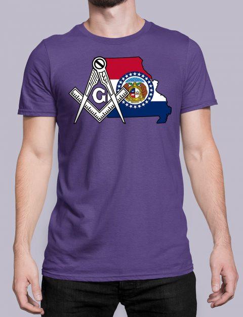 Missouri Masonic Tee Missouri purple shirt