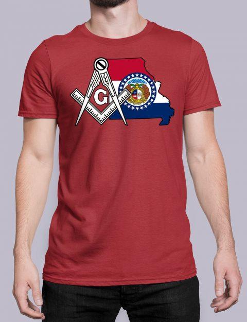 Missouri Masonic Tee Missouri red shirt