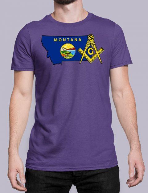 Montana Masonic Tee Montana purple shirt