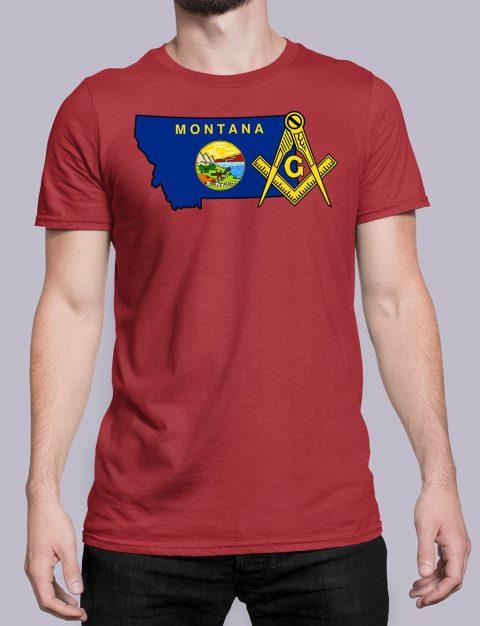 Montana Masonic Tee Montana red shirt