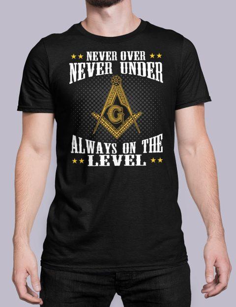 Never Over Never Under T-Shirt NEVER UNDER black shirt 26