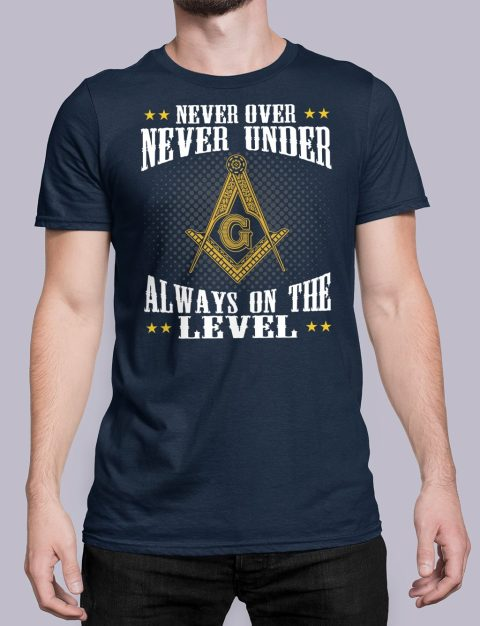 Never Over Never Under T-Shirt NEVER UNDER navy shirt 26