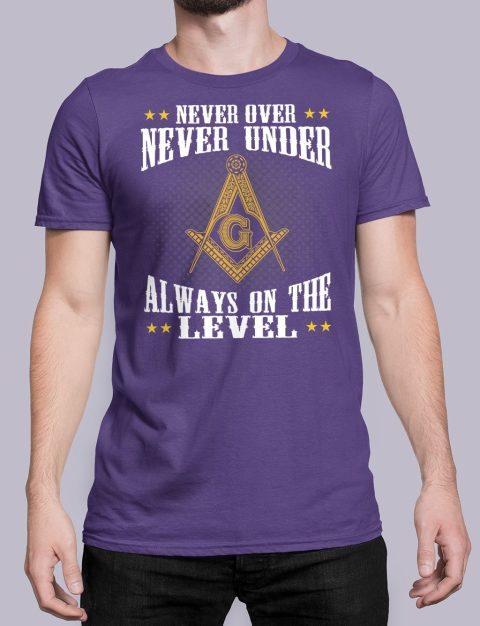 Never Over Never Under T-Shirt NEVER UNDER purple shirt 26