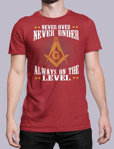 Never Over Never Under T-Shirt NEVER UNDER red shirt 26
