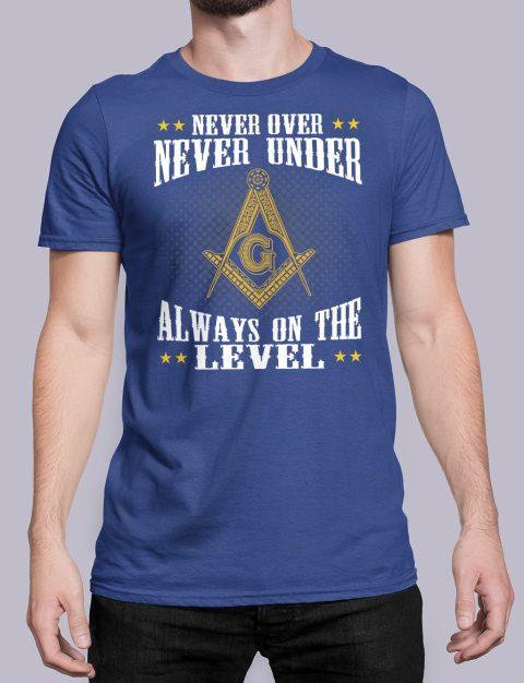 Never Over Never Under T-Shirt NEVER UNDER royal shirt 26