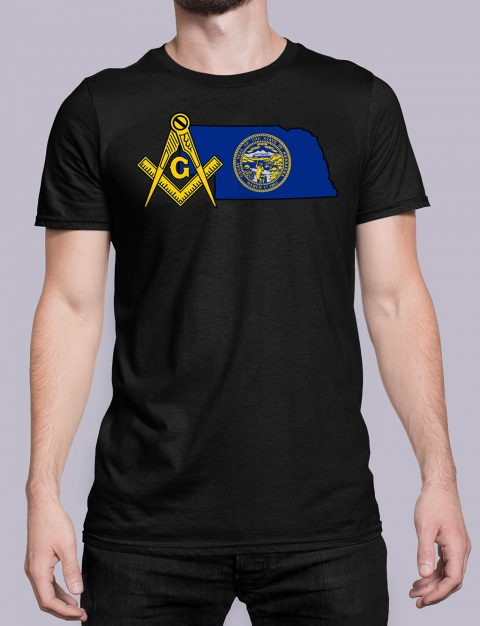Nebraska Masonic Tee Nebraska black shirt