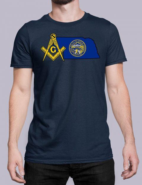 Nebraska Masonic Tee Nebraska navy shirt
