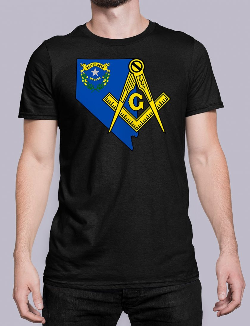 Nevada Masonic Tee Nevada black shirt