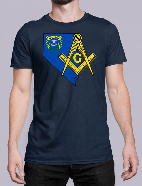 Nevada Masonic Tee Nevada navy shirt