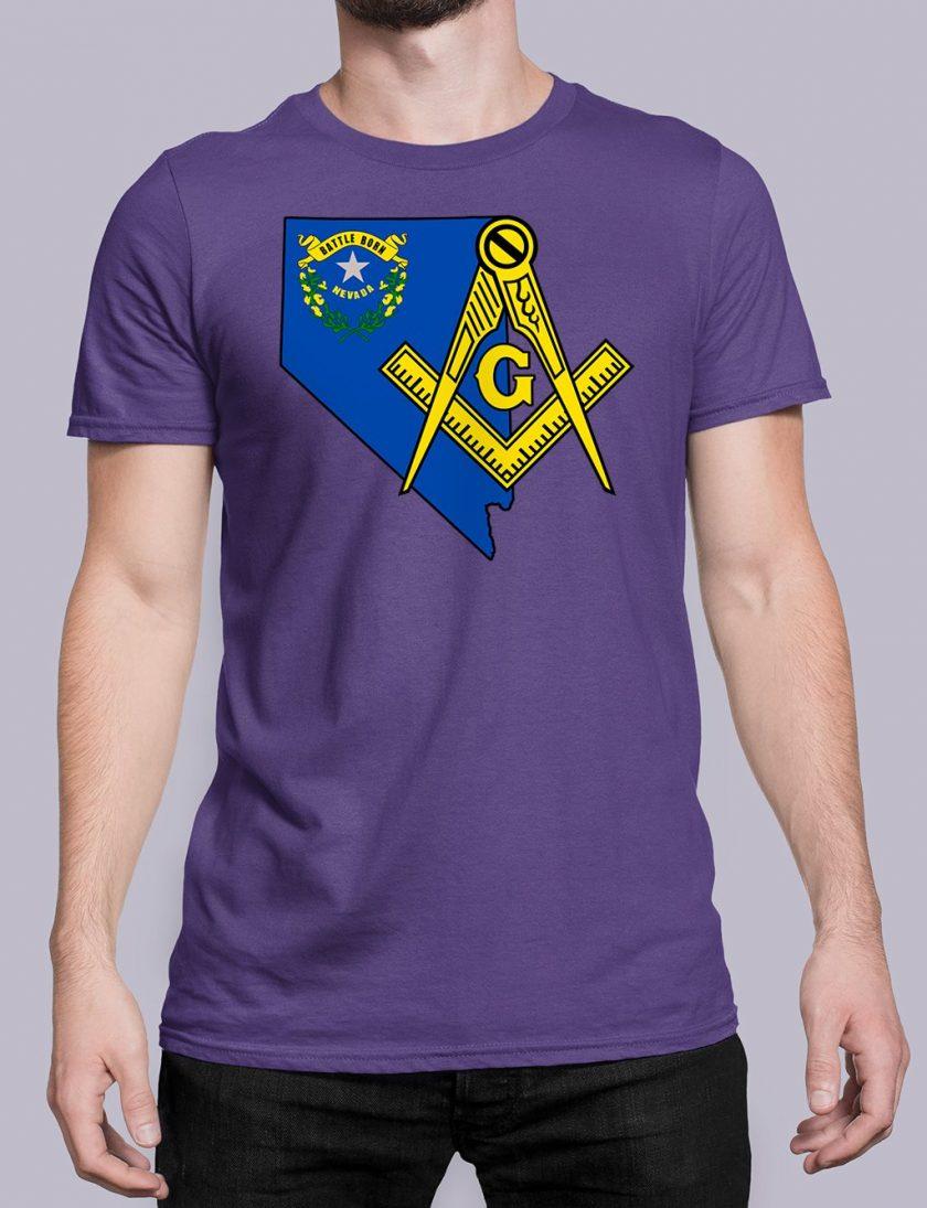 Nevada Masonic Tee Nevada purple shirt