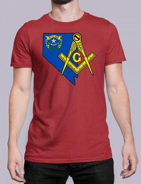 Nevada Masonic Tee Nevada red shirt