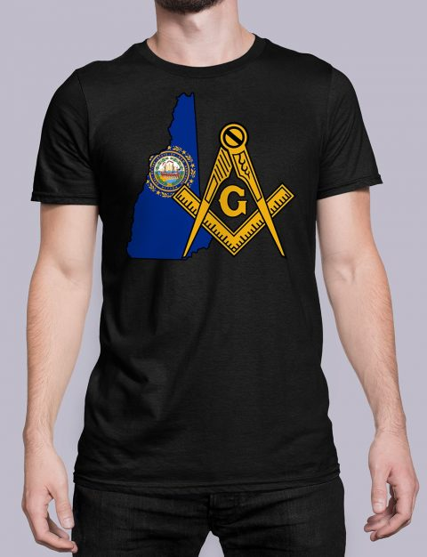New Hampshire Masonic Tee New Hampshire black shirt