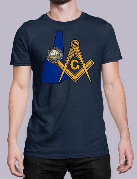 New Hampshire Masonic Tee New Hampshire navy shirt