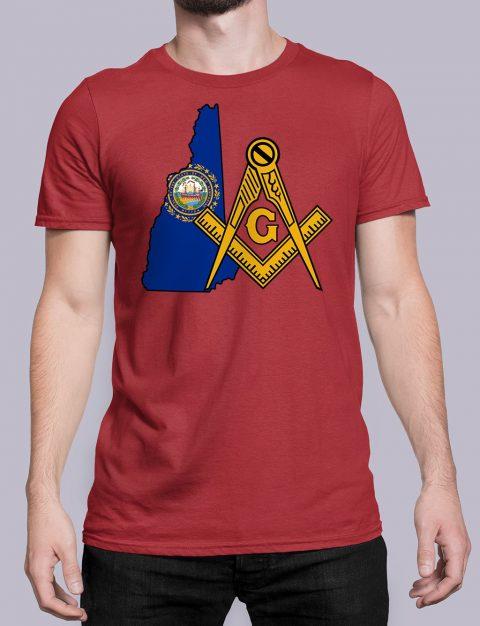 New Hampshire Masonic Tee New Hampshire red shirt