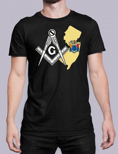 New Jersey Masonic Tee New Jersey black shirt