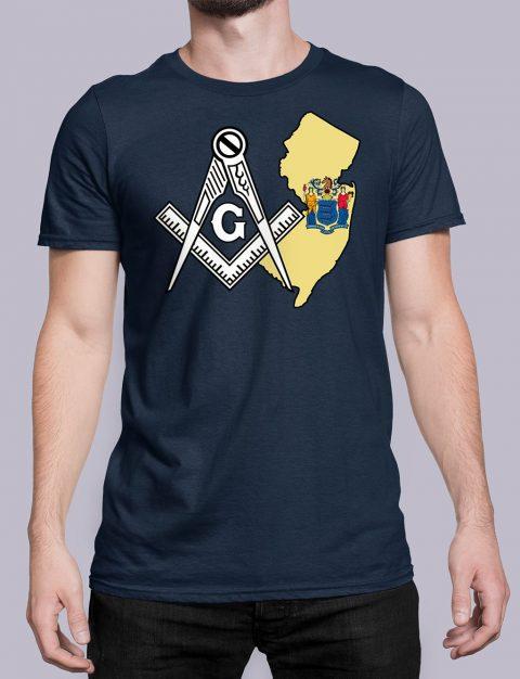 New Jersey Masonic Tee New Jersey navy shirt