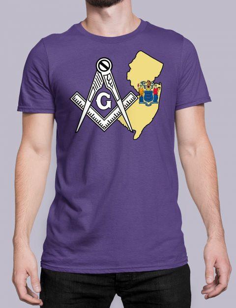 New Jersey Masonic Tee New Jersey purple shirt
