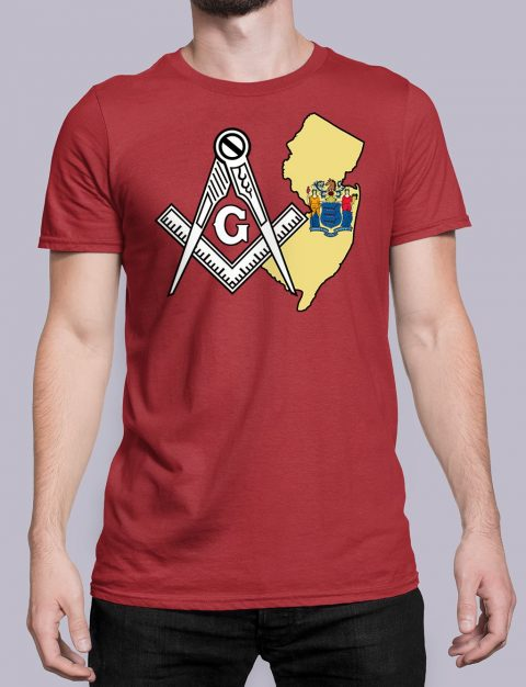 New Jersey Masonic Tee New Jersey red shirt