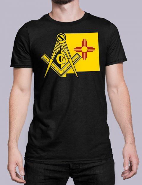 New Mexico Masonic Tee New Mexico black shirt