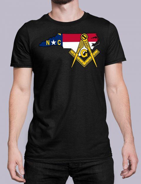 North Carolina Masonic Tee North Carolina black shirt