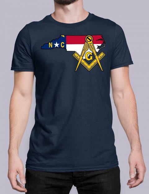 North Carolina Masonic Tee North Carolina navy shirt