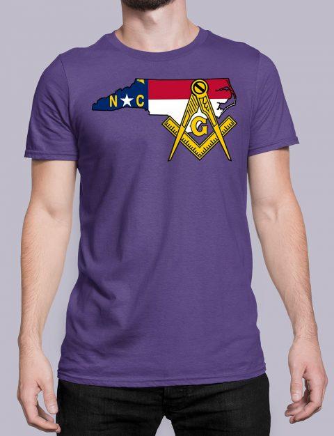 North Carolina Masonic Tee North Carolina purple shirt