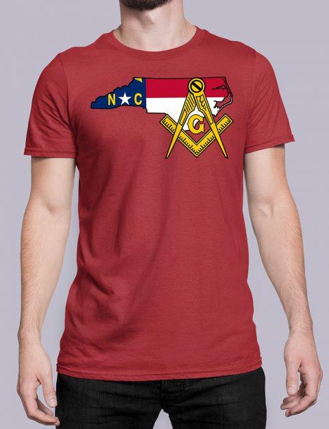 North Carolina Masonic Tee North Carolina red shirt