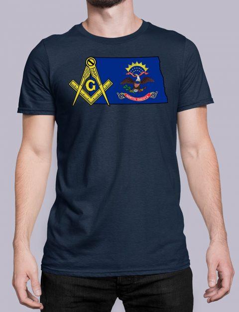 North Dakota Masonic Tee North Dakota navy shirt