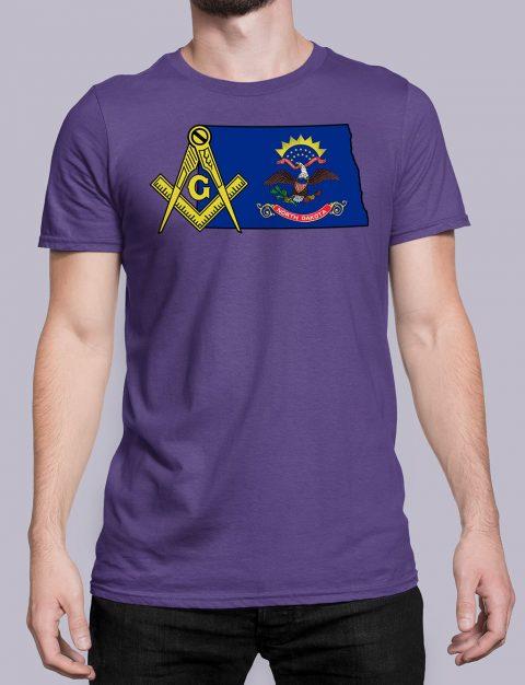 North Dakota Masonic Tee North Dakota purple shirt