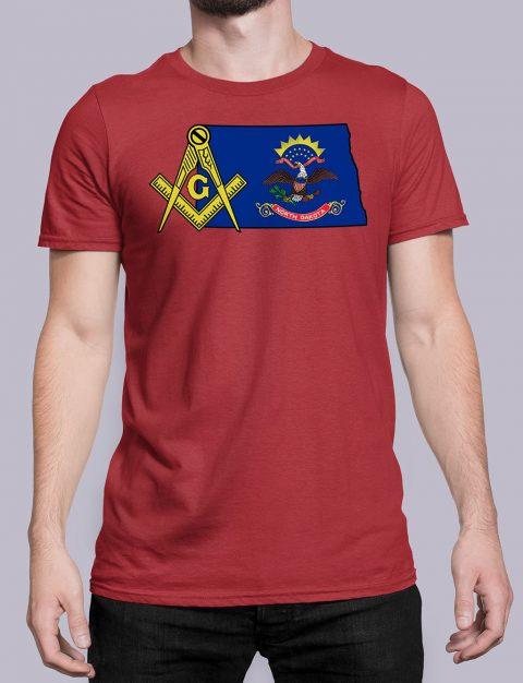 North Dakota Masonic Tee North Dakota red shirt