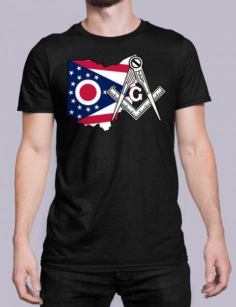 Ohio Masonic Tee Ohio black shirt