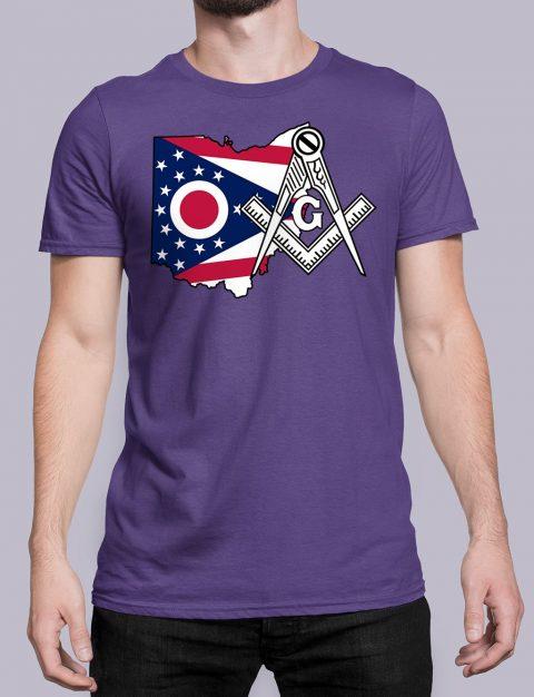 Ohio Masonic Tee Ohio purple shirt