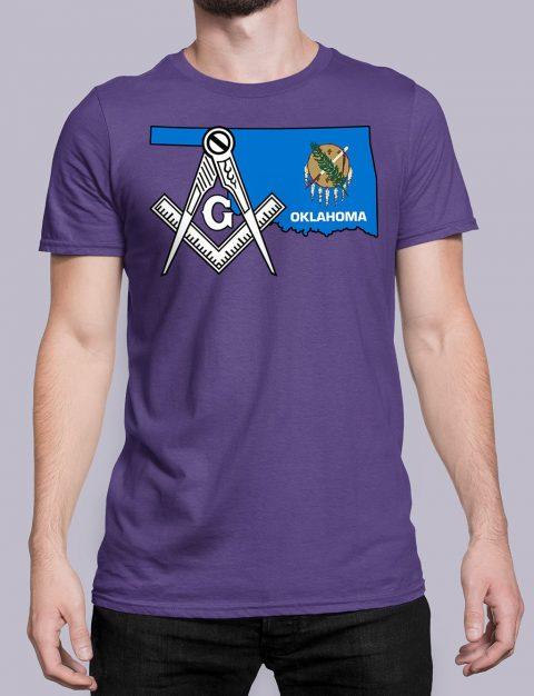 Oklahoma Masonic Tee Oklahoma purple shirt