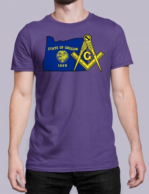 Oregon Masonic Tee Oregon purple shirt